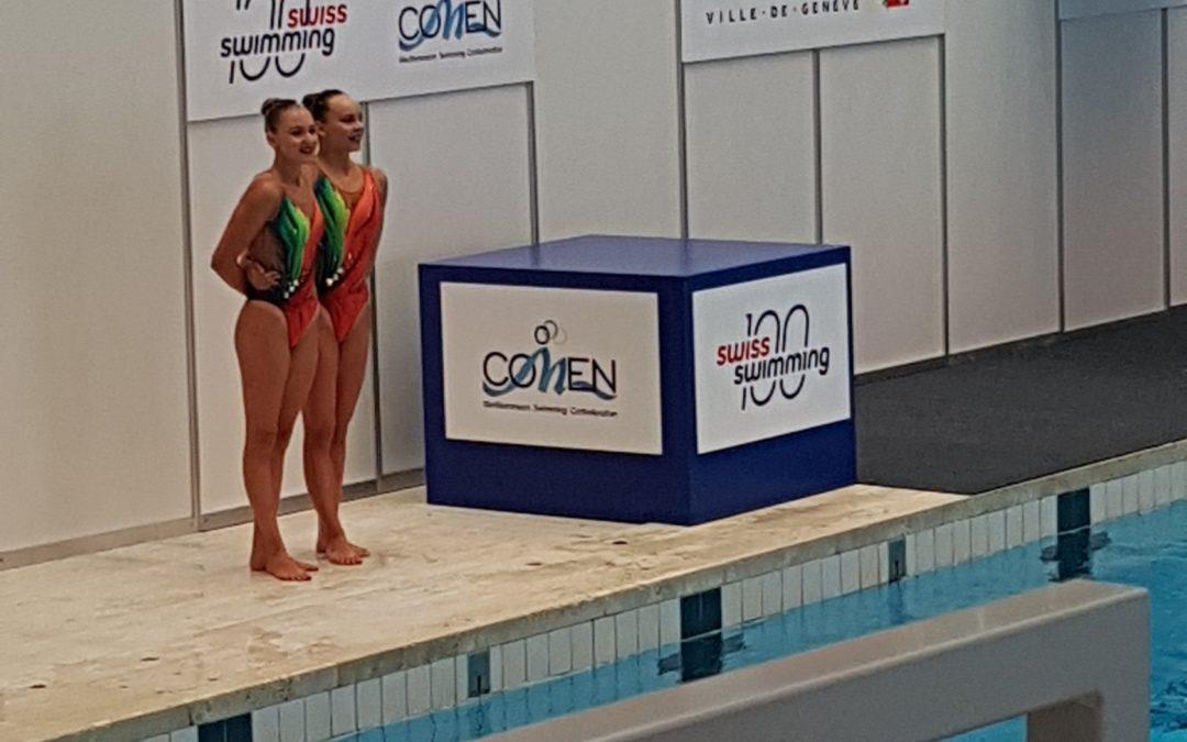 Excellents résultats de nos nageuses artistiques à la COMEN Cup